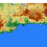 Nearby Forecast Locations - Rincón de la Victoria - Mapa