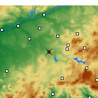 Nearby Forecast Locations - Puente Genil - Mapa