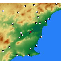 Nearby Forecast Locations - Orihuela - Mapa