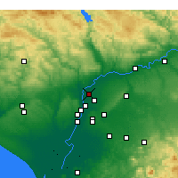 Nearby Forecast Locations - La Rinconada - Mapa