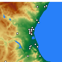 Nearby Forecast Locations - Xirivella - Mapa