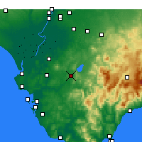 Nearby Forecast Locations - Arcos de la Frontera - Mapa