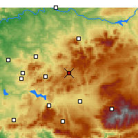 Nearby Forecast Locations - Alcalá la Real - Mapa
