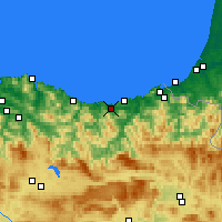 Nearby Forecast Locations - Zarautz - Mapa