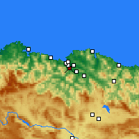 Nearby Forecast Locations - Baracaldo - Mapa