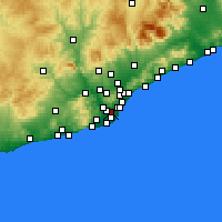 Nearby Forecast Locations - L'Hospitalet de Llobregat - Mapa