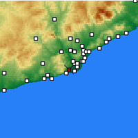 Nearby Forecast Locations - Gavà - Mapa