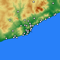 Nearby Forecast Locations - Eixample - Mapa
