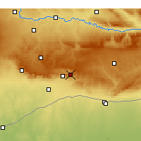 Nearby Forecast Locations - Yeşilli - Mapa