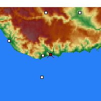 Nearby Forecast Locations - Bozyazı - Mapa
