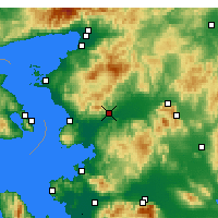 Nearby Forecast Locations - Bergama - Mapa