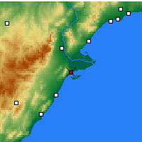 Nearby Forecast Locations - Sant Carles de la Ràpita - Mapa