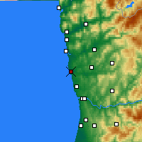 Nearby Forecast Locations - Póvoa de Varzim - Mapa