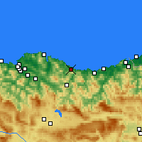Nearby Forecast Locations - Ondárroa - Mapa