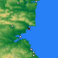 Nearby Forecast Locations - Nessebar - Mapa