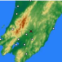 Nearby Forecast Locations - Masterton - Mapa