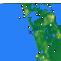 Nearby Forecast Locations - Port Waikato - Mapa
