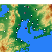 Nearby Forecast Locations - Tokoname - Mapa