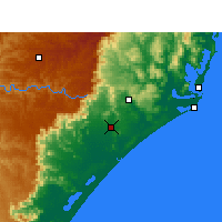 Nearby Forecast Locations - Criciúma - Mapa