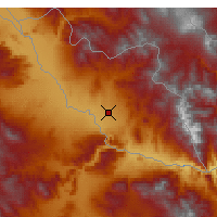 Nearby Forecast Locations - Naquichevão - Mapa