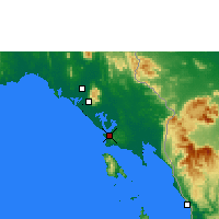 Nearby Forecast Locations - Trat - Mapa
