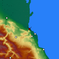 Nearby Forecast Locations - Makhachkala - Mapa