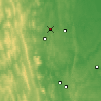 Nearby Forecast Locations - Verkhnyaya Tura - Mapa