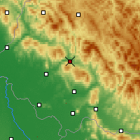 Nearby Forecast Locations - Svaliava - Mapa