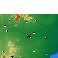 Nearby Forecast Locations - Tiruchirappalli - Mapa