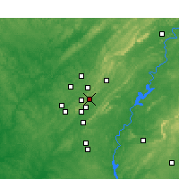 Nearby Forecast Locations - Mountain Brook - Mapa