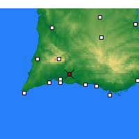 Nearby Forecast Locations - Silves - Mapa