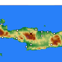 Nearby Forecast Locations - Anogeia - Mapa