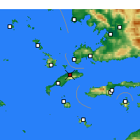 Nearby Forecast Locations - Dikaios - Mapa