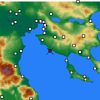 Nearby Forecast Locations - Kallikrateia - Mapa