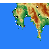 Nearby Forecast Locations - Koroni - Mapa