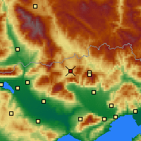 Nearby Forecast Locations - Kato Nevrokopi - Mapa