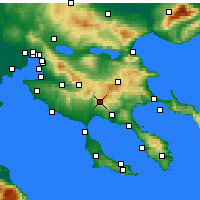 Nearby Forecast Locations - Polygyros - Mapa