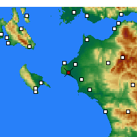 Nearby Forecast Locations - Vartholomio - Mapa