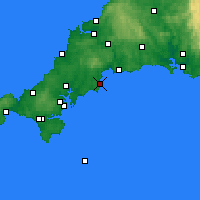 Nearby Forecast Locations - Mevagissey - Mapa