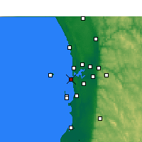 Nearby Forecast Locations - Fremantle - Mapa