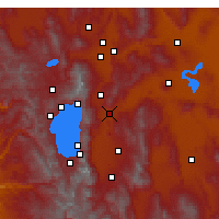 Nearby Forecast Locations - Carson City - Mapa