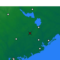 Nearby Forecast Locations - Summerville - Mapa