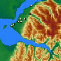 Nearby Forecast Locations - Eagle River - Mapa