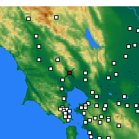 Nearby Forecast Locations - Sonoma - Mapa