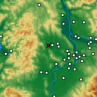 Nearby Forecast Locations - Forest Grove - Mapa