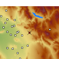Nearby Forecast Locations - Apache Junction - Mapa
