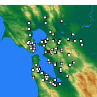 Nearby Forecast Locations - Berkeley - Mapa
