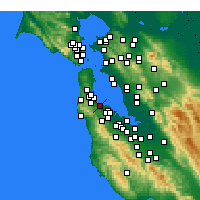 Nearby Forecast Locations - Burlingame - Mapa