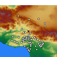 Nearby Forecast Locations - Canyon Country - Mapa