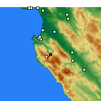 Nearby Forecast Locations - Carmel Valley Village - Mapa